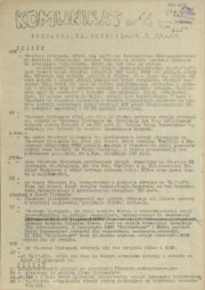 Komunikat Ośrodka Informacji NZS Szczecin. 1981 nr 11