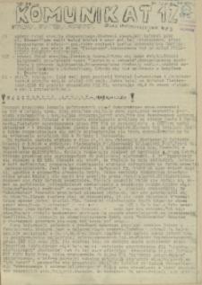 Komunikat Ośrodka Informacji NZS Szczecin. 1981 nr 12