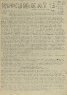 Komunikat Ośrodka Informacji NZS Szczecin. 1981 nr 13