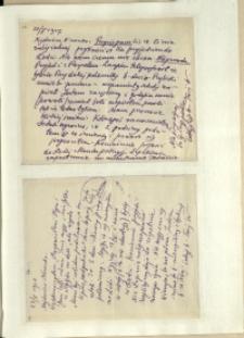 Listy Stanisława Ignacego Witkiewicza do żony Jadwigi z Unrugów Witkiewiczowej. List z 20.05.1927.List z 23.05.1927.