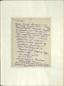 Listy Stanisława Ignacego Witkiewicza do żony Jadwigi z Unrugów Witkiewiczowej. List z 20.06.1927