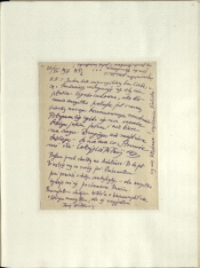 Listy Stanisława Ignacego Witkiewicza do żony Jadwigi z Unrugów Witkiewiczowej.List z 22.06.1927