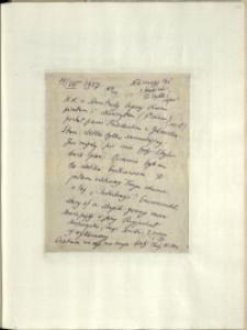Listy Stanisława Ignacego Witkiewicza do żony Jadwigi z Unrugów Witkiewiczowej. List z 14.08.1927