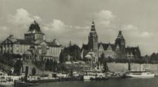 Stettin, Blick auf Hakenterrasse, Museum und Regierungsgebäude