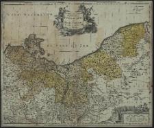 Carte geographique du Duche de Pomeraniae et Mecklenbourg