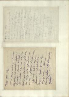 Listy Stanisława Ignacego Witkiewicza do żony Jadwigi z Unrugów Witkiewiczowej. List z 18.08.1927. List z 19.08.1927.