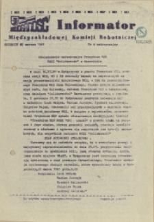 Informator Międzyzakładowej Komisji Robotniczej. 1981 nr 4