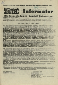 Informator Międzyzakładowej Komisji Robotniczej. 1981 nr 6