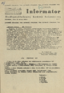 Informator Międzyzakładowej Komisji Robotniczej. 1981 nr 7
