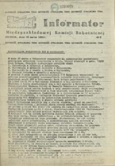 Informator Międzyzakładowej Komisji Robotniczej. 1981 nr 8