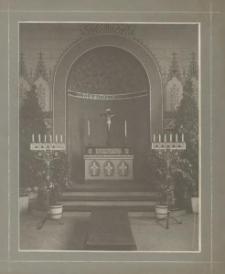 [Szczecin, wnętrze ołtarza kaplicy Cmentarza Drzetowskiego w Żelechowejj]
