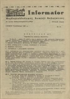 Informator Międzyzakładowej Komisji Robotniczej. 1981 nr 18