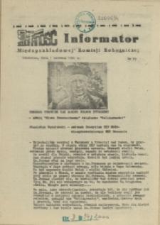 Informator Międzyzakładowej Komisji Robotniczej. 1981 nr 29