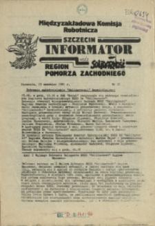 Informator Międzyzakładowej Komisji Robotniczej. 1981 nr 32