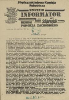 Informator Międzyzakładowej Komisji Robotniczej. 1981 nr 34