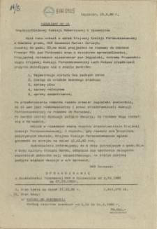 "Komunikat Międzyzakładowej Komisji NSZZ ""Solidarność"". 1980 nr 11"