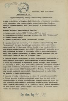 "Komunikat Międzyzakładowej Komisji NSZZ ""Solidarność"". 1980 nr 13"
