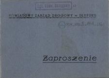 Zaproszenie : Powiatowy Zarząd Drogowy w Słupsku