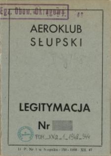Legitymacja : Aeroklub Słupski