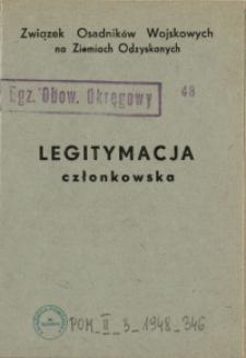 Legitymacja członkowska