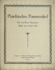 Plattdütsches Pommernlied