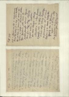 Listy Stanisława Ignacego Witkiewicza do żony Jadwigi z Unrugów Witkiewiczowej. List z 02.08.1927. List z 06.09.1927.