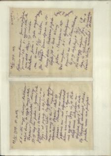 Listy Stanisława Ignacego Witkiewicza do żony Jadwigi z Unrugów Witkiewiczowej. List z 28.10.1927. List z 29.10.1927.