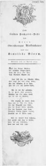 Zum frohen Hochzeits-Feste des Herrn Ober-Chirurgus Birkenhauer und der Demoiselle Bloom : Stettin, den 23. Aprill 1809
