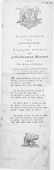 Empfindungen eines glücklichen Weibes am Tage der Geburt ihres geliebsteten Mannes und ihrer Verheyrathung : Stettin, den 26. Januar 1803