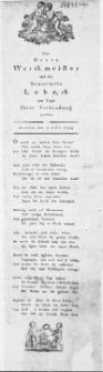 Dem Herrn Werckmeister und der Demoiselle Lobeck am Tage Ihrer Verbindung gewidmet : Stettin den 7. Juli 1799
