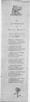 Am 40sten Geburtstage der Madame Walther : Stettin, den 21. Dezember 1809