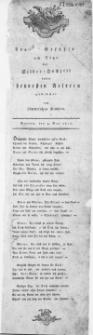 Fro[he?] Gefühle am Tage der Silber-Hochzeit unsrer heuresten Aeltern : Stettin, den 4. May 1811