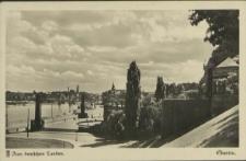 Stettin,Blick von der Hakenterrasse die Oder aufwärts