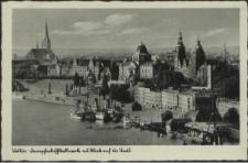 Stettin, Dampfschiffbollwerk mit Blick auf die Stadt