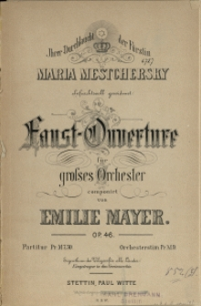 Faust-Ouverture : für grosses Orchester : Op. 46