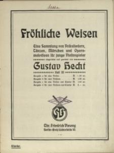 Fröhliche Weisen : eine Sammlung von Volksliedern, Tänzen, Märschen und Opernmelodieen für junge Violinspieler H 3