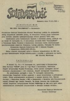 "Komunikat Międzyzakładowej Komisji NSZZ ""Solidarność"". 1980 nr 20"