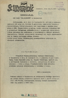 "Komunikat Międzyzakładowej Komisji NSZZ ""Solidarność"". 1980 nr 24"