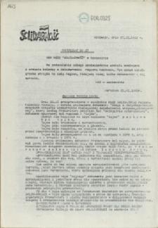 "Komunikat Międzyzakładowej Komisji NSZZ ""Solidarność"". 1980 nr 27"