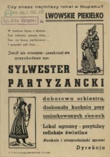 [Druk ulotny.Inc.:] Sylwester Partyzancki