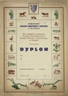 Dyplom : [Powiatowy Związek Samopomocy Chłopskiej]