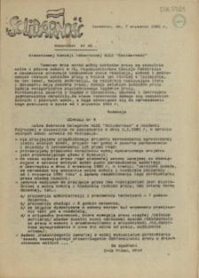"""Komunikat Stoczniowej Komisji Robotniczej NSZZ """"Solidarność"""". 1981 nr 46"""