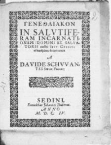Genethliakon In Salutiferam Incarnationem Domini Et Salvatoris nostri Jesu Christi [...]