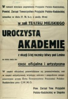 [Afisz. Inc.:] W ramach miesiąca pogłębiania Przyjaźni Polsko-Radzieckiej [...]