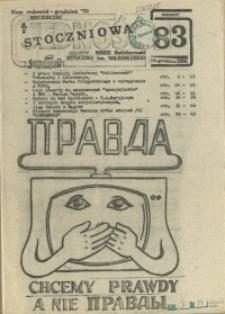 """Jedność Stoczniowa : tygodnik NSZZ """"Solidarność"""" Stoczni im. Warskiego. 1981 nr 83"""