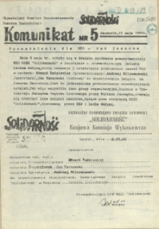 Komunikat. 1989 nr 5