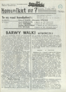 Komunikat. 1989 nr 7