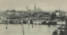Stettin, Bahnhofsbrücke mit Bahnhof