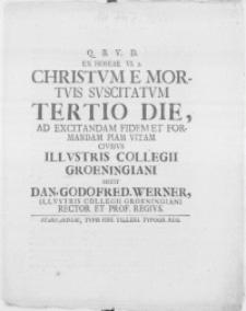 Ex Hoseae VI. 2 Christum e mortuis suscitatum tertio die
