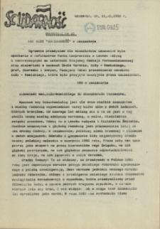 """Komunikat Prezydium Zarządu Regionu Pomorza Zachodniego NSZZ """"Solidarność"""". 1981 nr 23"""